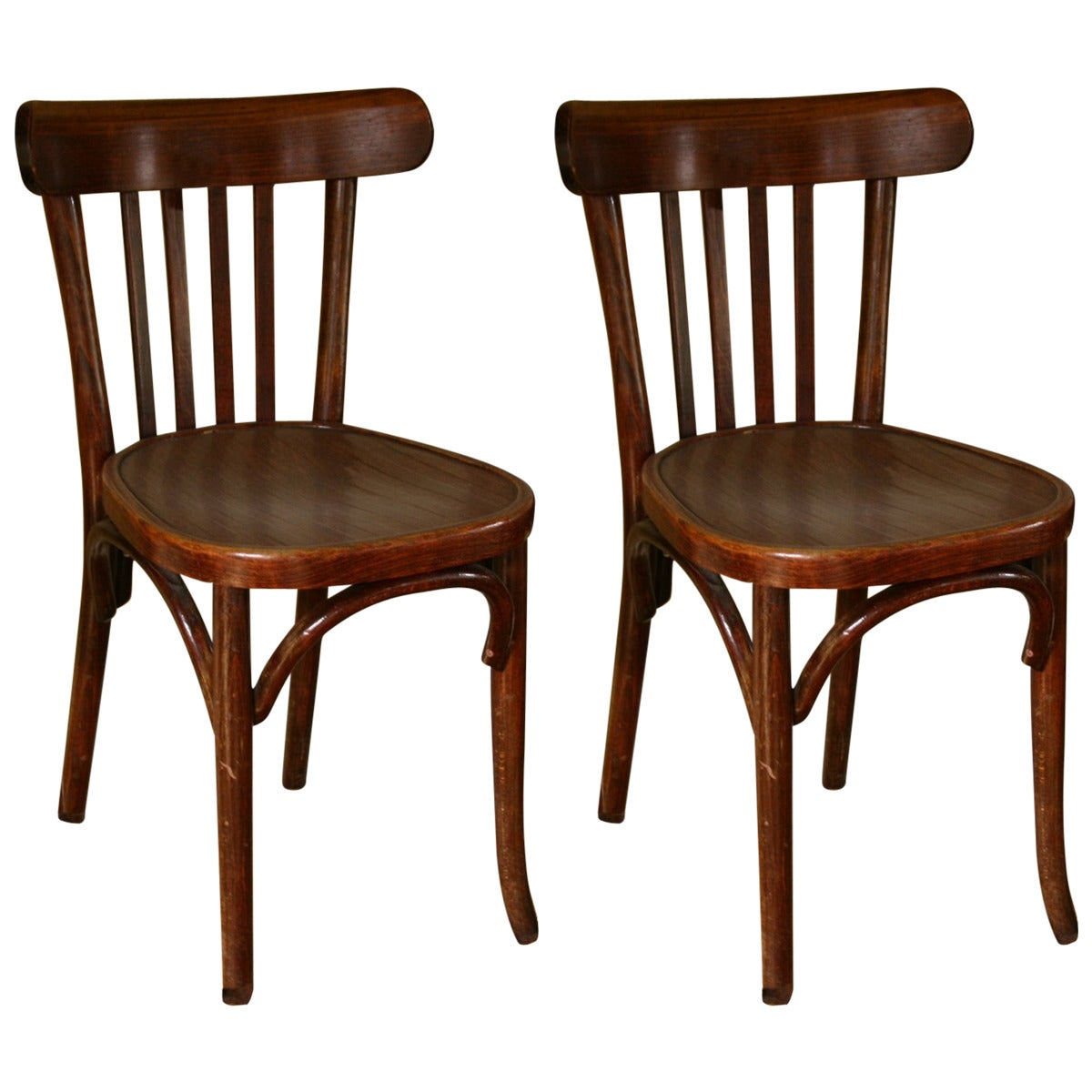 French Bistro Chair Two Early 1900s French Bistro Chairs At 1stdibs