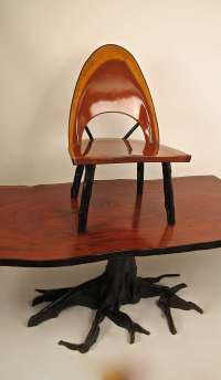 Set of 4 Unique Tree Form Dining Chairs For Sale at 1stdibs