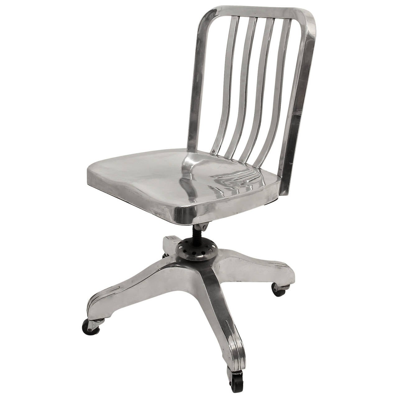 Industrial Office Chair Industrial Aluminum Desk Chair At 1stdibs