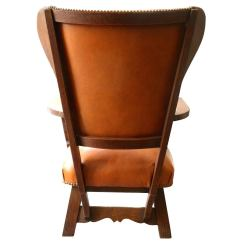 Oxblood Leather Wing Chair Dining Table Covers Uk Oak And Caramel For Sale At 1stdibs