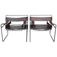 Wassily Chair Brown Leather Dining Chairs At Walmart Pair Of Vintage And Chrome 1stdibs