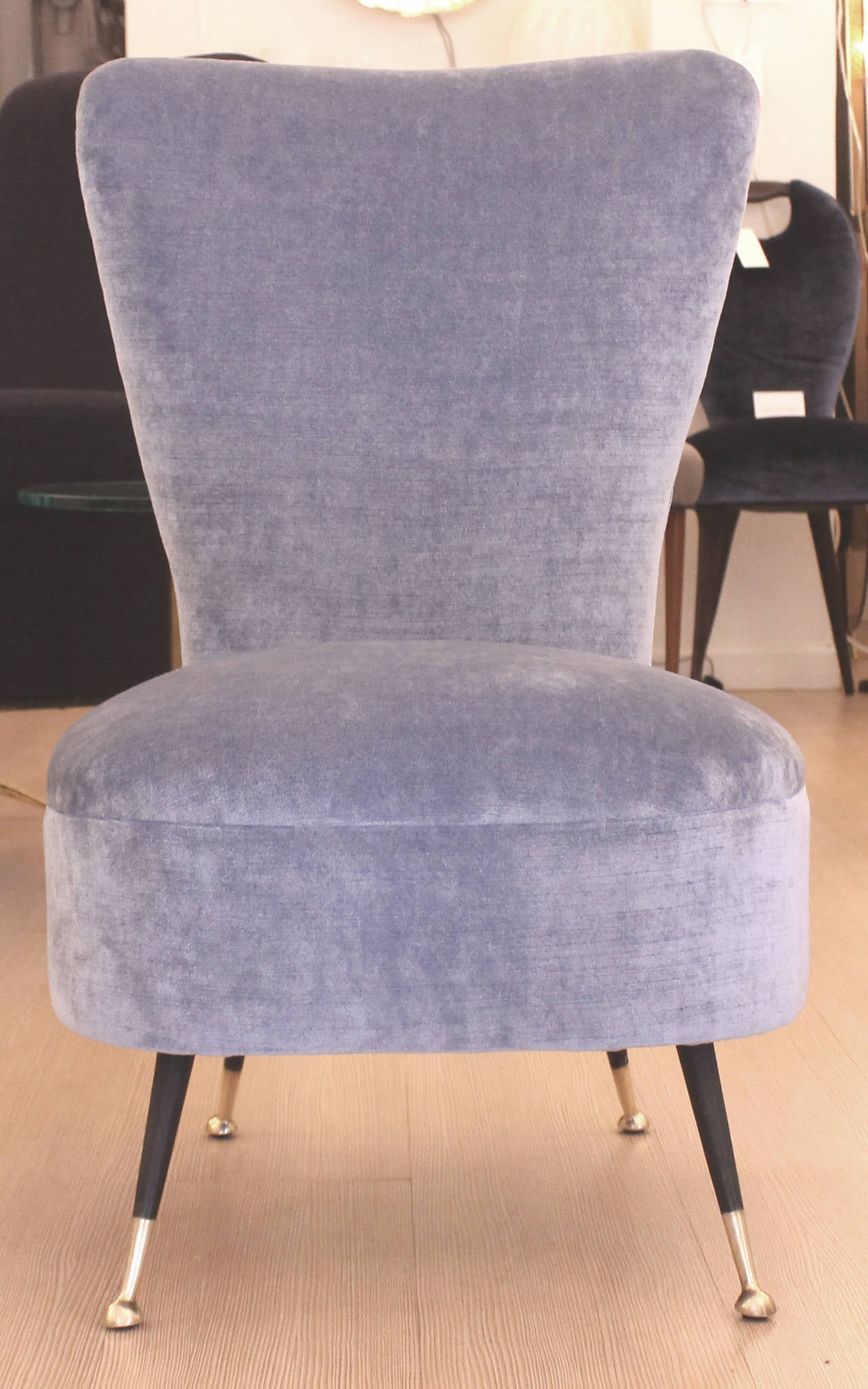 Blue Slipper Chair Elegant Pair Of Light Blue Slipper Chairs Italy 1960s