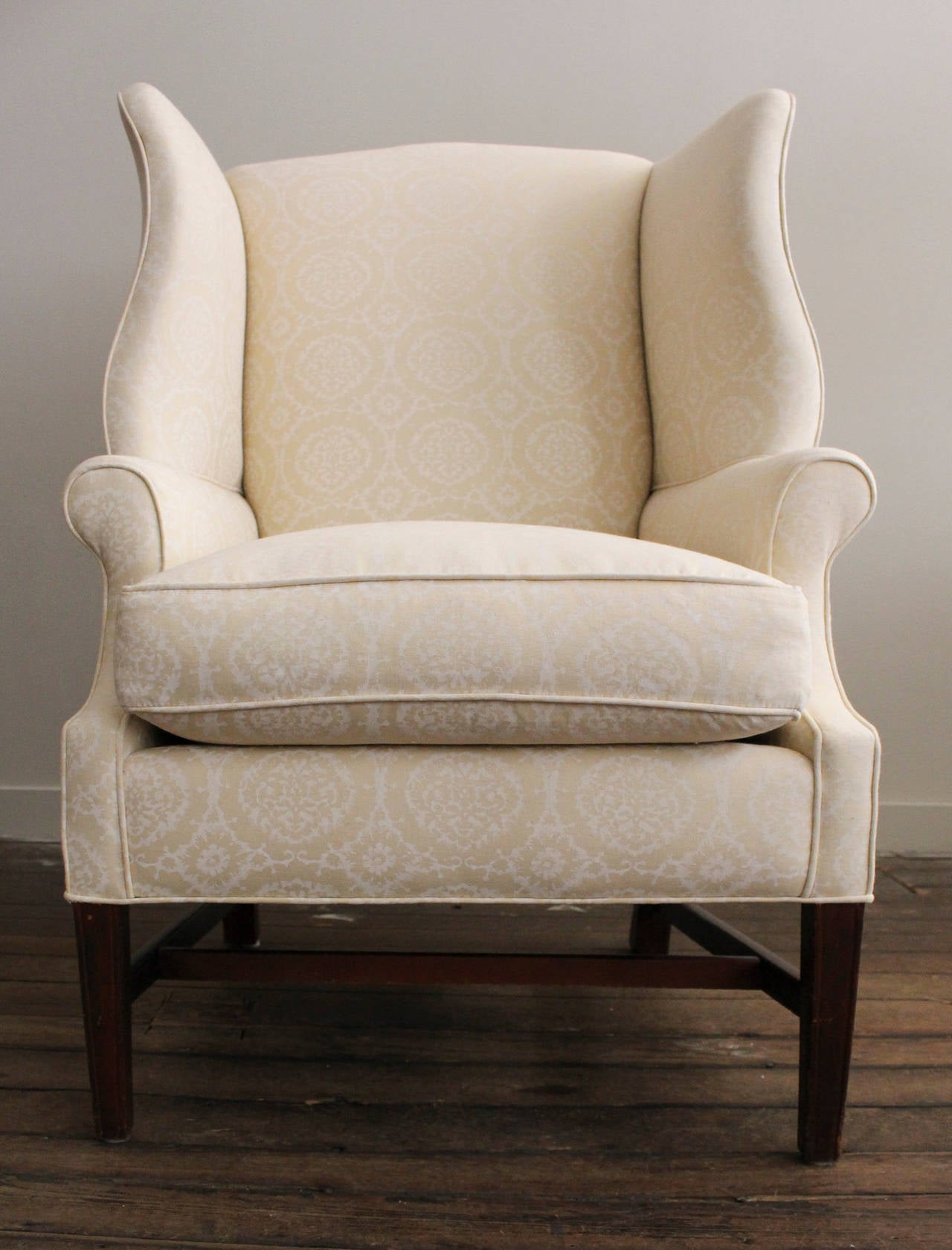 Retro Wing Chair Vintage 1940s Wingback Chair At 1stdibs