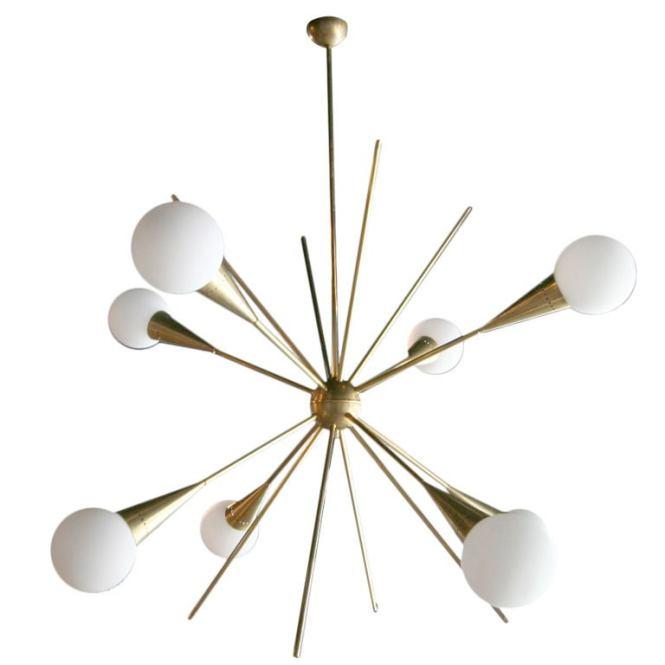 60 S Italian Sputnik Chandelier 1
