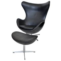 Jacobsen Egg Chair Leather Cover Rental Tampa Early And Ottoman By Arne With Original
