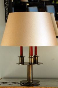 Chic French modern bronze bouillotte lamp at 1stdibs