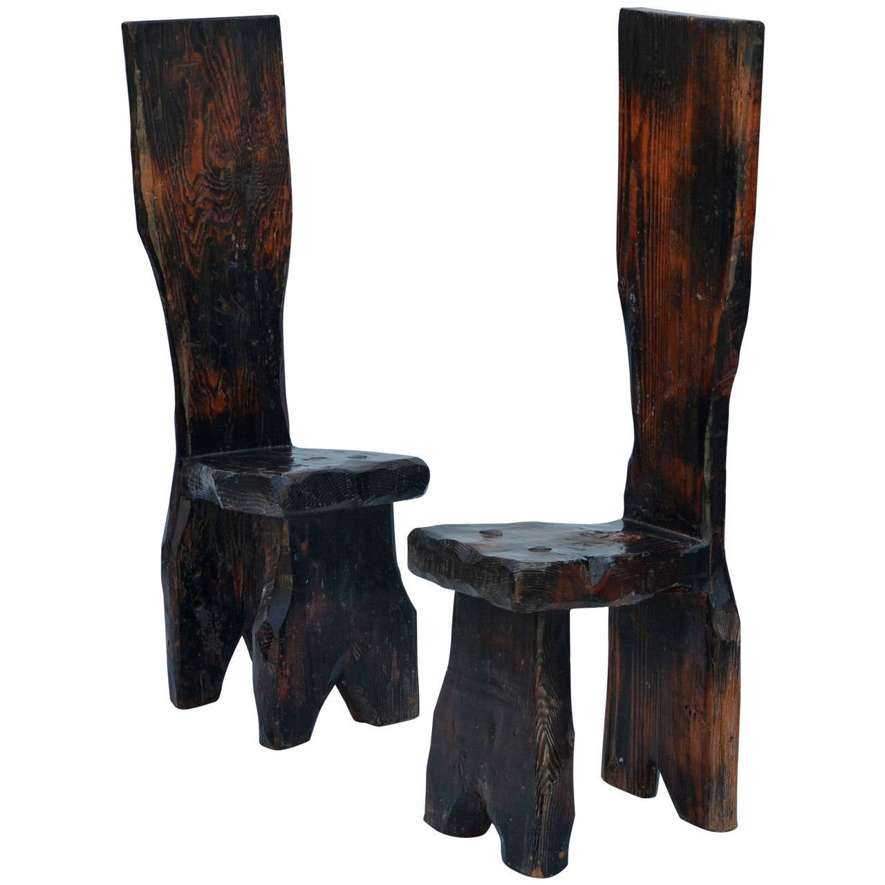 cool chairs for sale cheap chair covers calgary unique pair of sculptural oregon pine wabi side