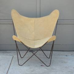 Butterfly Chair Replacement Covers Pride Riser Recliner Pair Of Original Vintage Hardoy Chairs In Suede