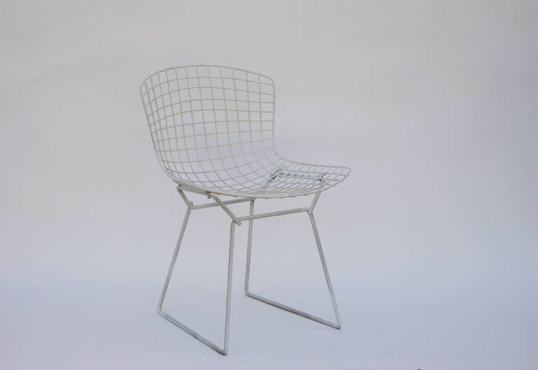 bertoia wire chair original car in steel express set of four chairs by harry for knoll sale early 1950s edition