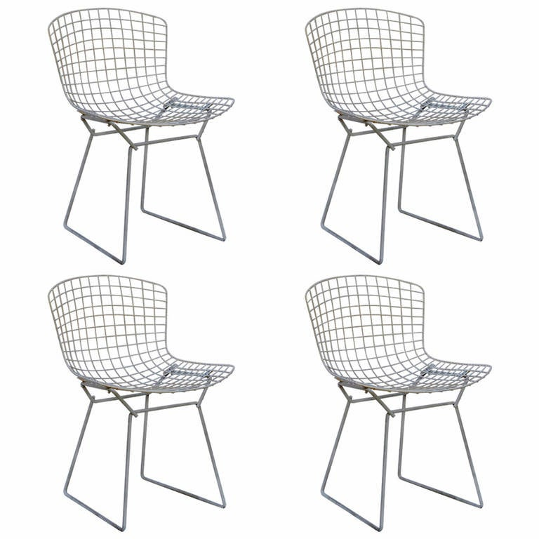 bertoia wire chair original red accent chairs for living room set of four by harry knoll sale