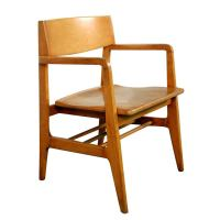 Sculptural Maple Mid-Century Desk Chair For Sale at 1stdibs