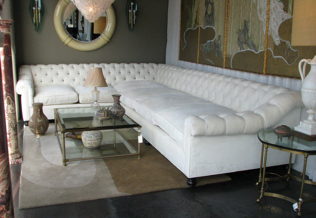 white curved sectional sofa best fabric in singapore american oversized at 1stdibs
