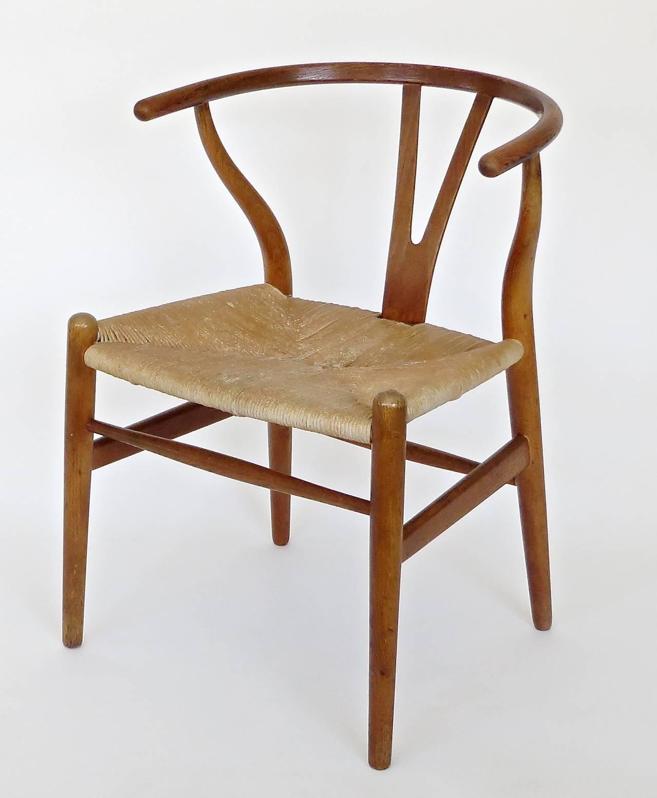 wishbone chairs baby tailgate chair danish ch 24 by hans wegner at 1stdibs