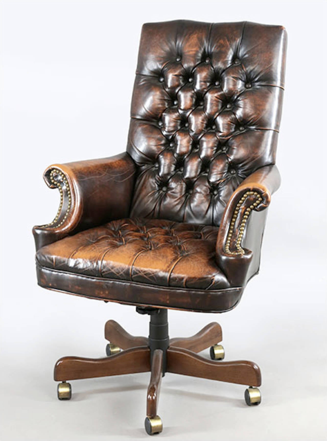 Executive Leather Chair Leather Executive Chair With Worn Patina