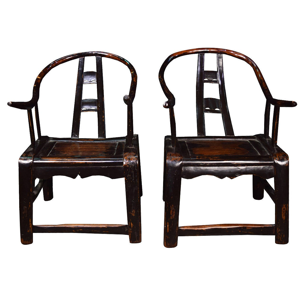 Petite Chairs Pair Of 19th Century Chinese Petite Chairs At 1stdibs