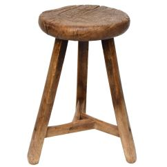 Stool Chair In Chinese Vintage Barber Chairs 19th Century Round Three Leg At 1stdibs