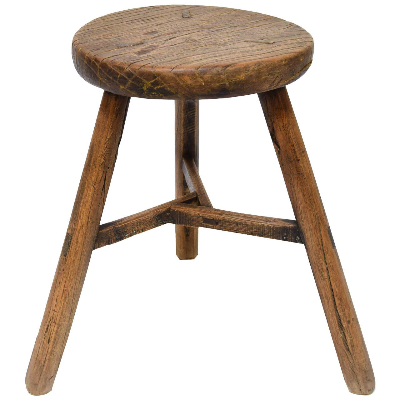 stool chair in chinese masoli swivel 19th century three leg round at 1stdibs