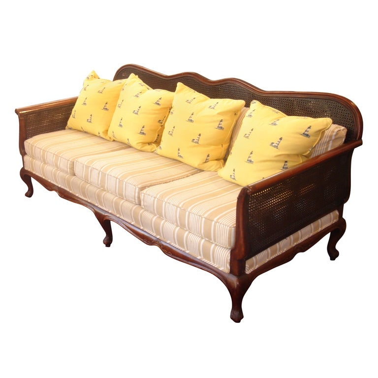 cane sofa set pictures billig chaiselong laeder british colonial double at 1stdibs
