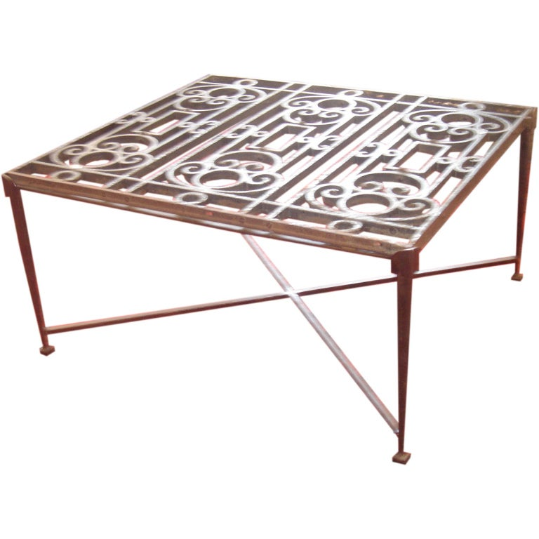 Hand Forged Iron Coffee Table At 1stdibs
