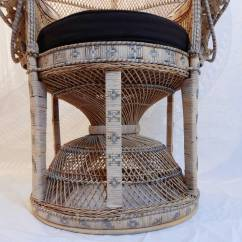 Vintage Peacock Chair Reliance And Stand Emmanuelle At 1stdibs