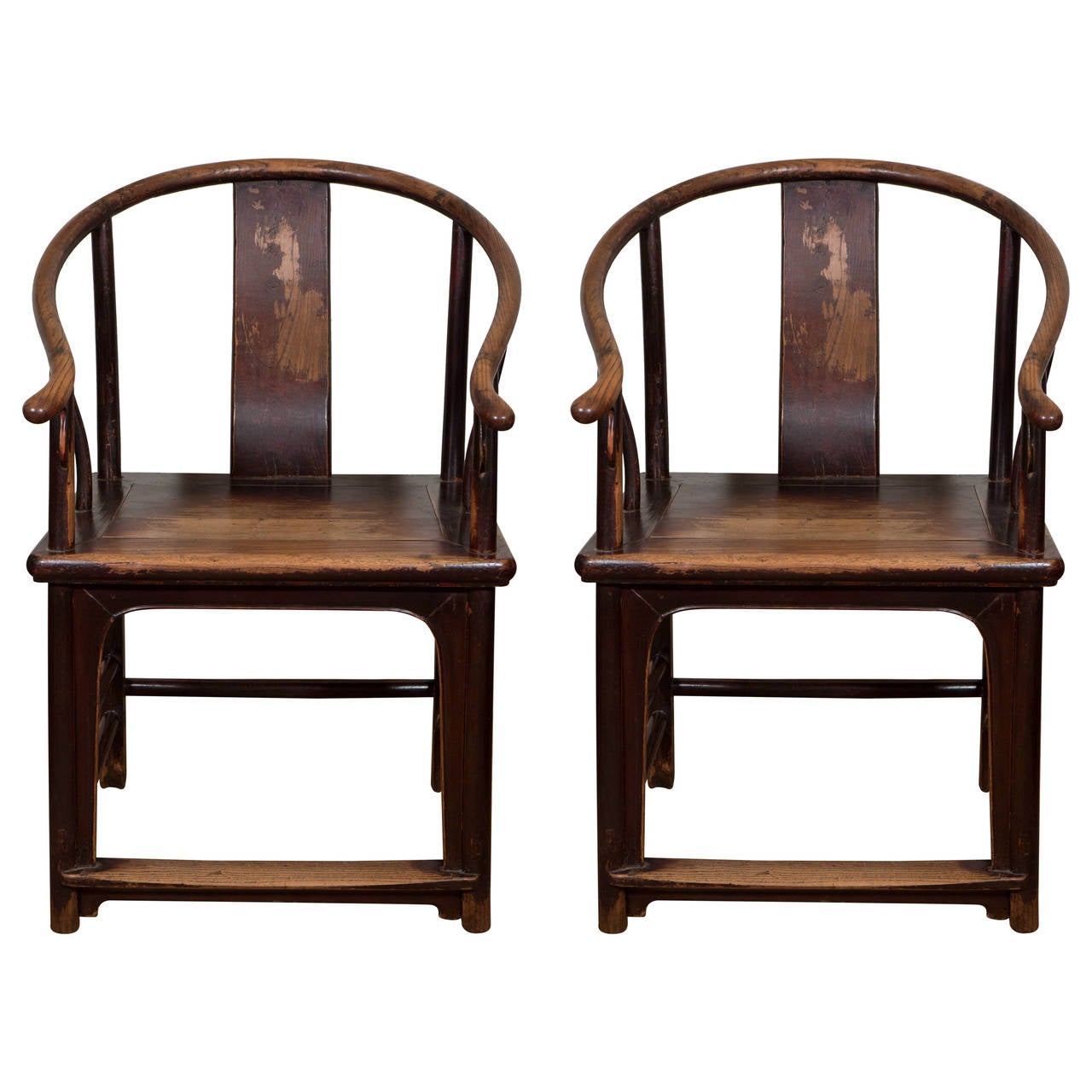 desk chair hardwood floor rocking folding a pair of 18th century chinese horseshoe chairs at 1stdibs