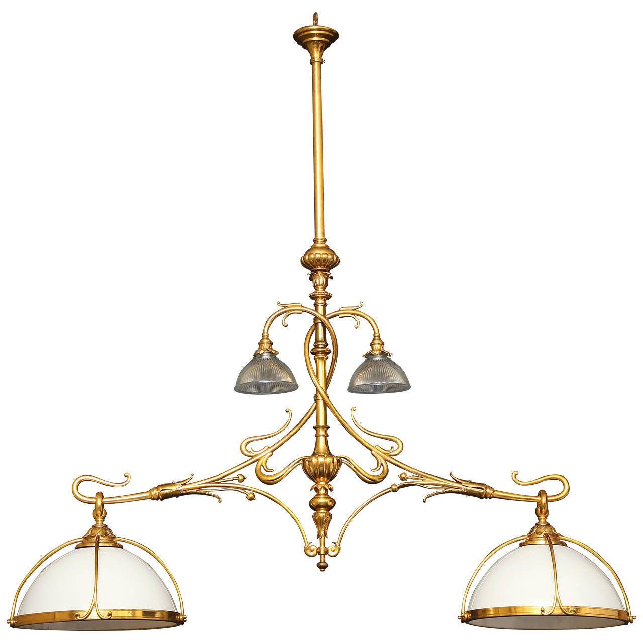 bronze kitchen chandelier stove parts gilt billiard or island with