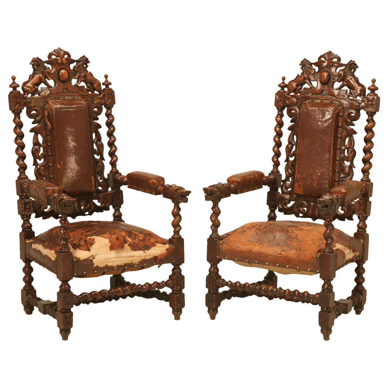 barley twist chair adirondack chairs target pair of french over the top throne at