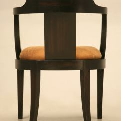 Desk Chair Seat Cushion Red Tub Homebase French Ebonized Mahogany Antique With A Leather