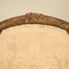 Leather Bergere Chair And Ottoman Ergonomic Diagram Louis Xv Style French Antique In