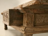 Rustic Original Hand-carved Spanish Coffee Table w/3 ...