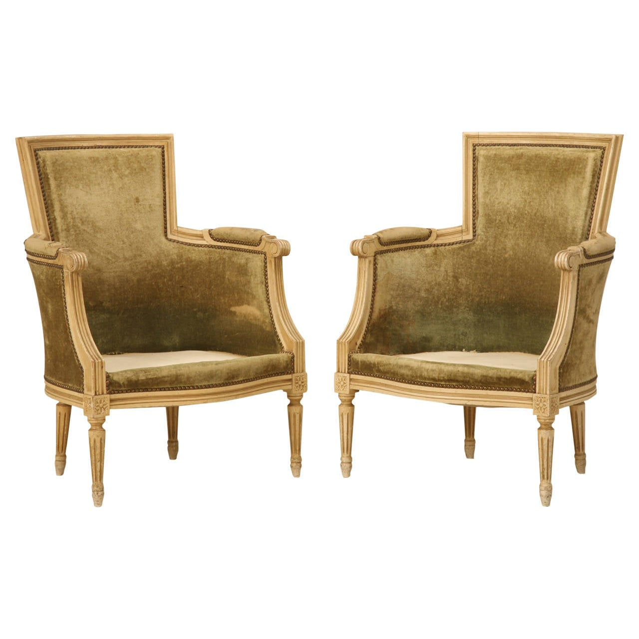 bergere chairs for sale leather couch and chair louis xvi style in original paint