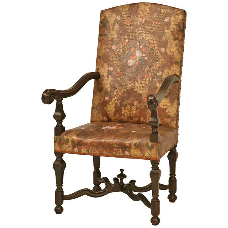 kings chair for sale dining covers christmas phenomenal antique embossed painted and gilded leather throne