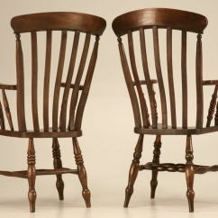 Comb Back Windsor Chair Glider Replacement Parts Magnificent Pair Of Antique Arm Chairs