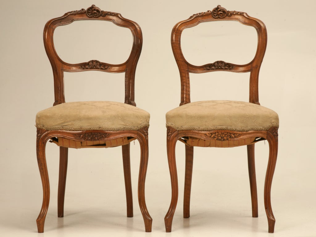 Petite Chairs Petite Antique French Rococo Side Chair In Walnut At 1stdibs
