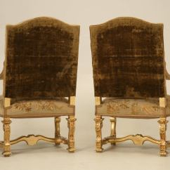 French Antique Chairs For Sale Olive Green Accent Chair Gilded Throne Circa 1900