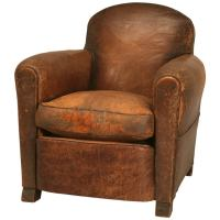 Rugged and Handsome Vintage French Original Leather Club ...