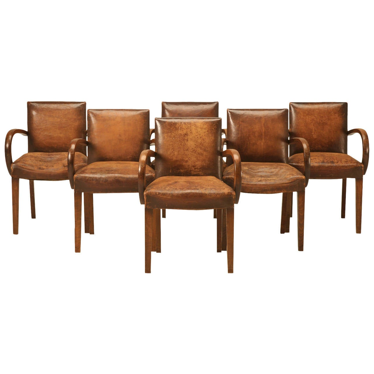 Super Comfy Chair Set Of 6 French Original Leather Super Comfortable Bridge