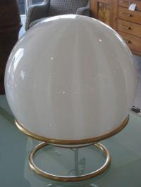 Mid Century Mod Glass Orb Table Lamp at 1stdibs