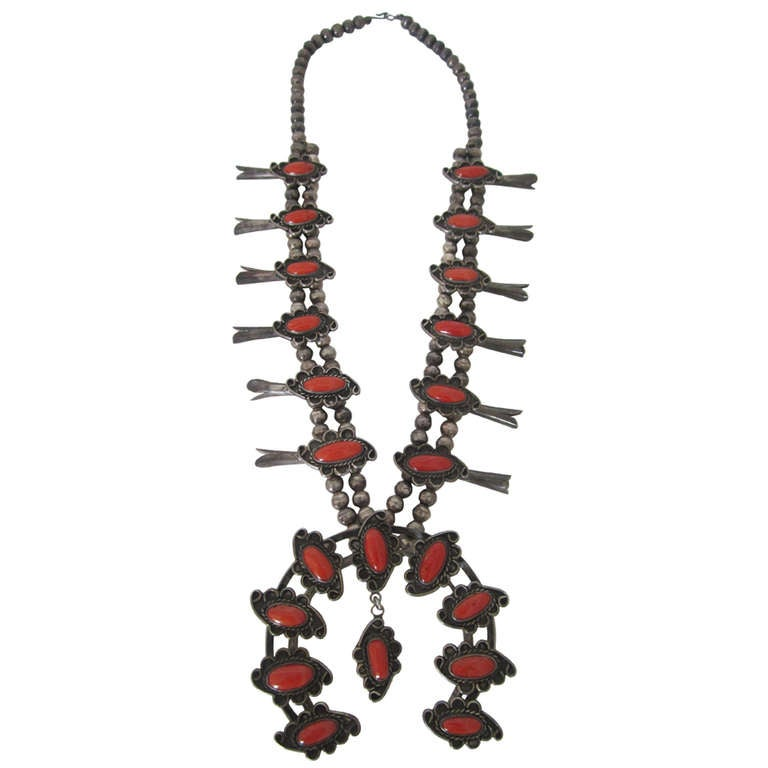 Coral Squash Blossom Necklace at 1stdibs