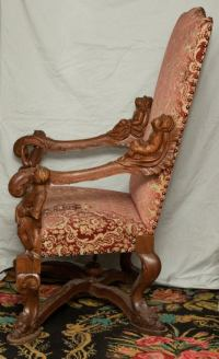 A Venetian Baroque Blackamoor Chair by Valentino Besarel