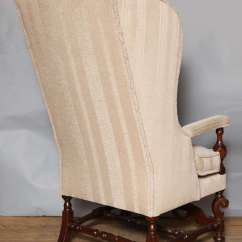 High Chair Cushion For Wooden Chairs Executive Leather Back American Wing Sale At 1stdibs