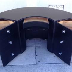 Half Circle Chair Ergonomic Japan Desk With Exterior Shelves At 1stdibs