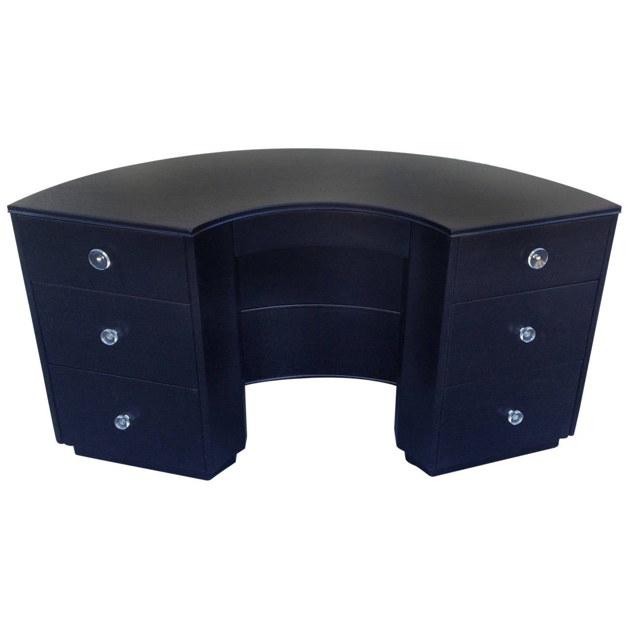 Half Circle Desk with Exterior Shelves at 1stdibs