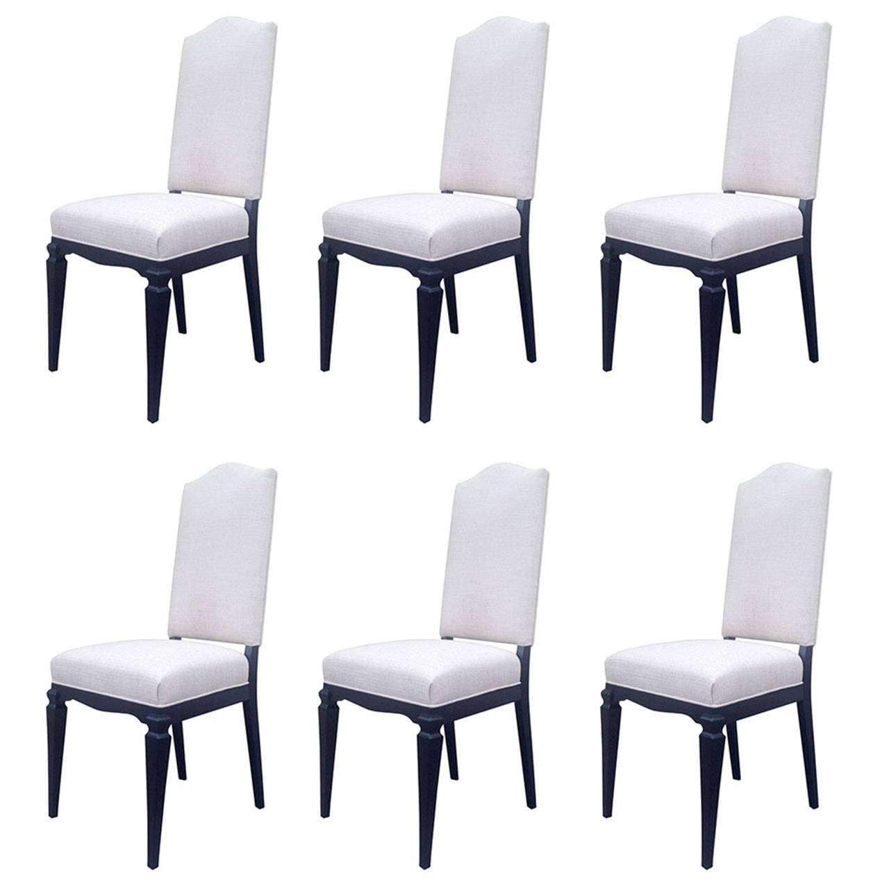 fancy dining chairs chair cover and sash hire bristol set of six elegant attributed to andré arbus
