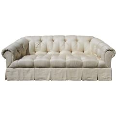 Hollywood Regency Curved Sofa Black Leather Gumtree Tufted At 1stdibs