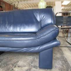 Four Seat Sofa Set Norwalk Sofas Navy Blue Leather By Nicoletti Salotti At 1stdibs