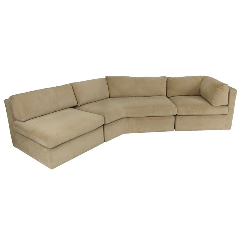 right angled sectional sofa wesley hall sumter three-piece for sale at 1stdibs