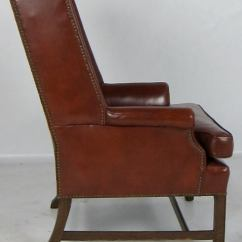 French Club Chairs For Sale Chair Covers Wedding South Wales Pair Of Leather Wing With Nailhead Trim At 1stdibs
