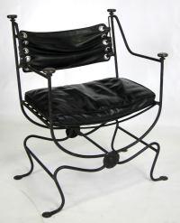 Iron Frame Savonarola Chair at 1stdibs