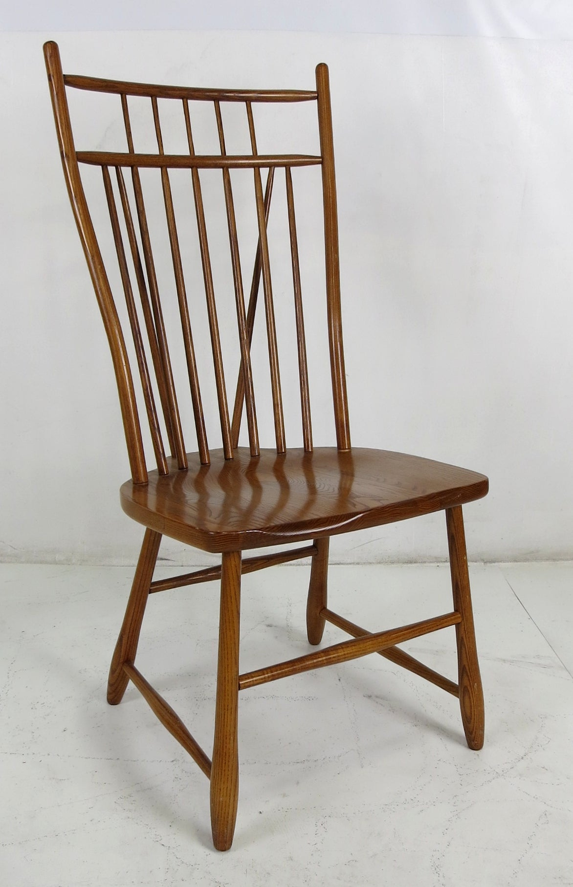 Windsor Style Chairs Set Of Six High Back Windsor Style Dining Chairs For Sale